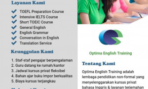 Les Privat Bahasa Inggris TOEFL/IELTS/TOEIC/General English/English Grammar/Conversation