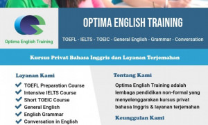 Les Privat Bahasa Inggris TOEFL/IELTS/TOEIC, General English, English Grammar, Conversation in English